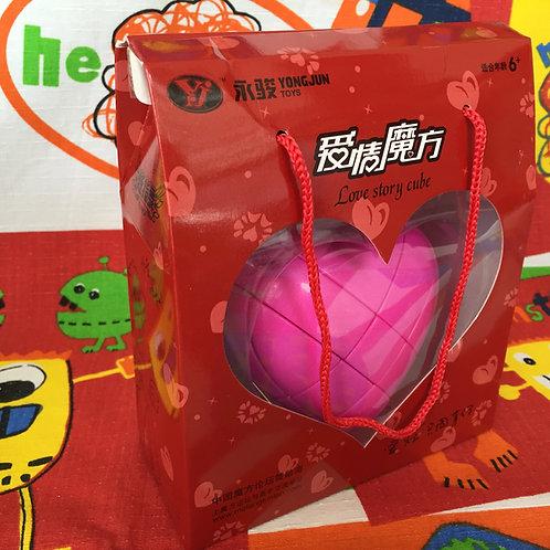 YJ Corazón 3x3 rosa con caja