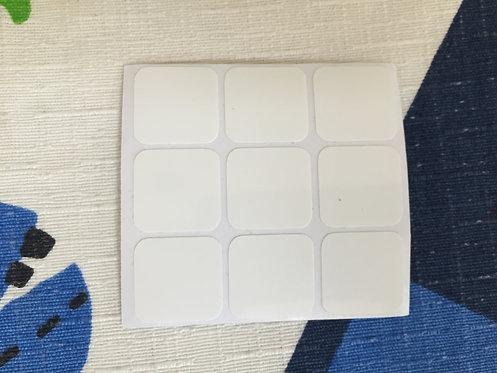 Cara 3x3 estándar vinil blanco