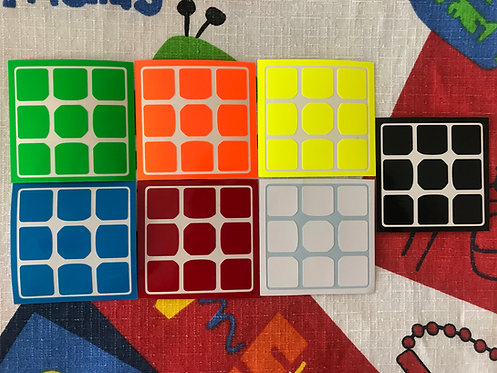 Stickers QiYi Thunderbolt / clap 3x3 full fitted half bright