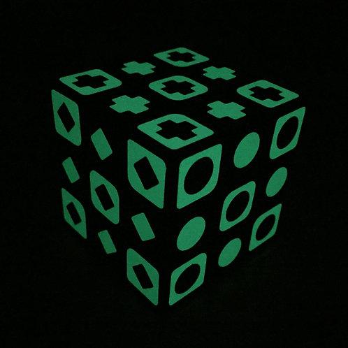 3x3 QiYi Sail fluorescente base negra