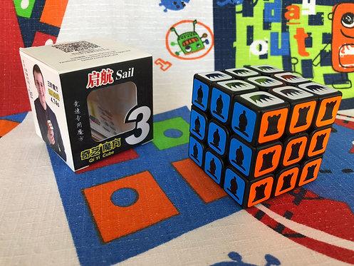 3x3 QiYi Sail base negra ajedrez