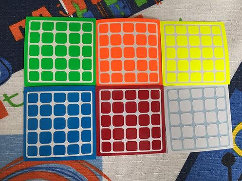 Stickers 5x5 Moyu Aochuang vinil half bright