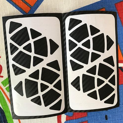 Stickers Mastermorphix fibra de carbono negro