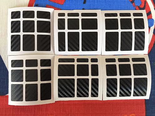 Stickers Mirror fibra de carbono negro