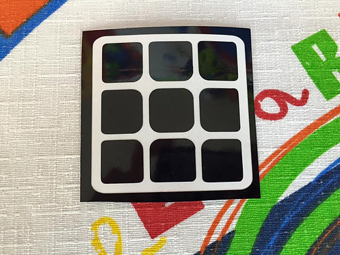 Cara 3x3 Corte Moyu vinil negro
