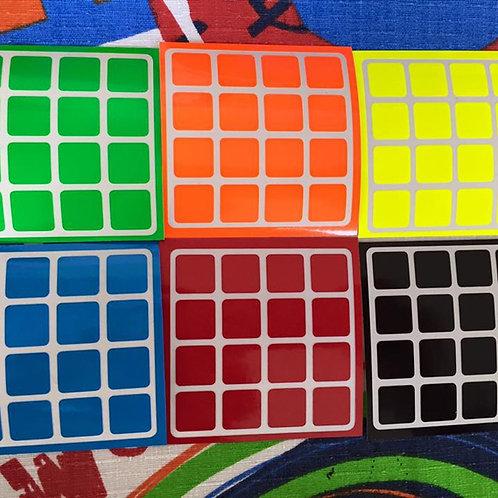 Stickers 4x4 vinil half bright