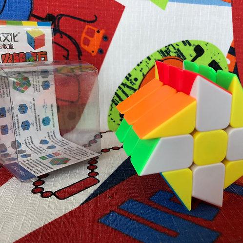 Moyu MoFangJiaoShi Windmill cube stickerless colored