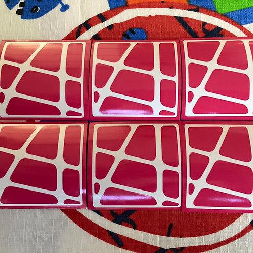 Stickers Crazy Yileng vinil rosa