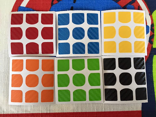 Stickers 3x3 Yuxin fibra de carbono colores