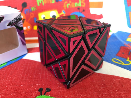 Ninja Ghost 3x3 base negra stickers rojo Z Hollow