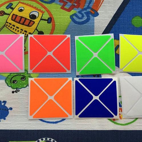 Stickers Dino vinil colores fosforescentes