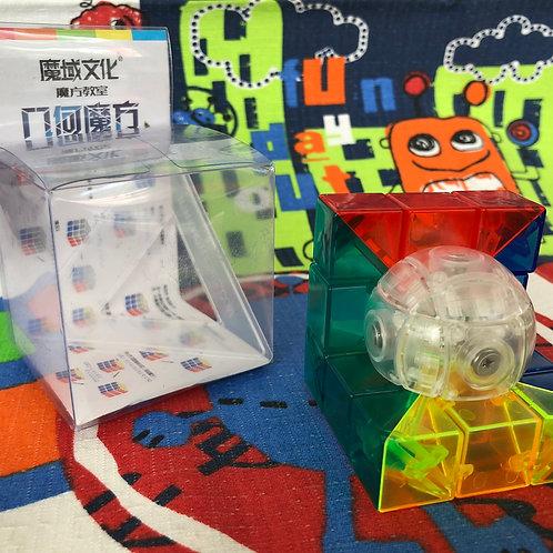 Moyu 3x3 Geo Cube B stickerless transparente