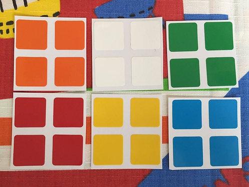 Stickers 2x2 Super Sede vinil colores estándar