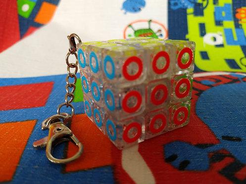 3x3x3 Llavero base transparente círculos