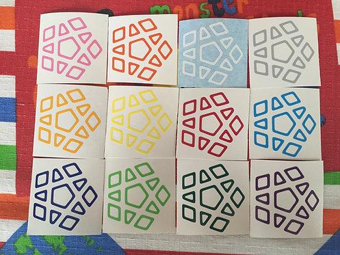 Stickers Megaminx vinil outline