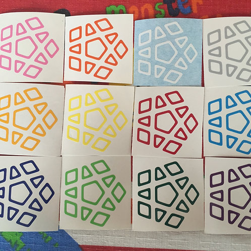 Stickers Megaminx vinil outline