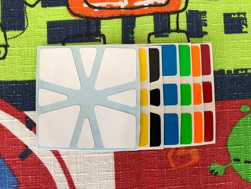 Stickers Square 1 vinil half bright