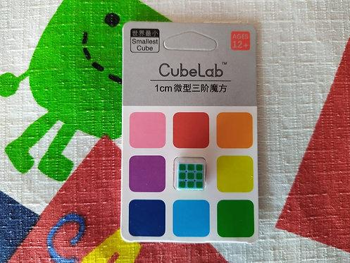 3x3x3 Cubelab mini cubo 1cm base azul