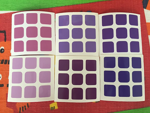 Stickers 3x3 vinil gradiente morado