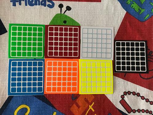 Stickers 6x6 Aoshi vinil half bright