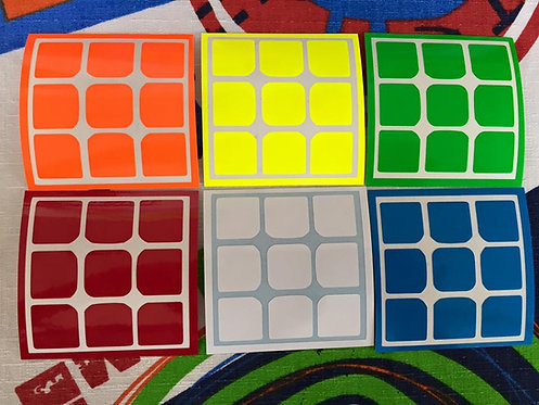Stickers 3x3 Aolong full fitted half bright