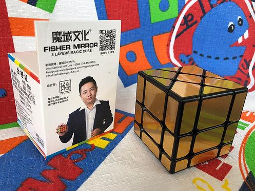 Moyu MoFangJiaoShi Fisher Mirror S 3x3 base negra dorado