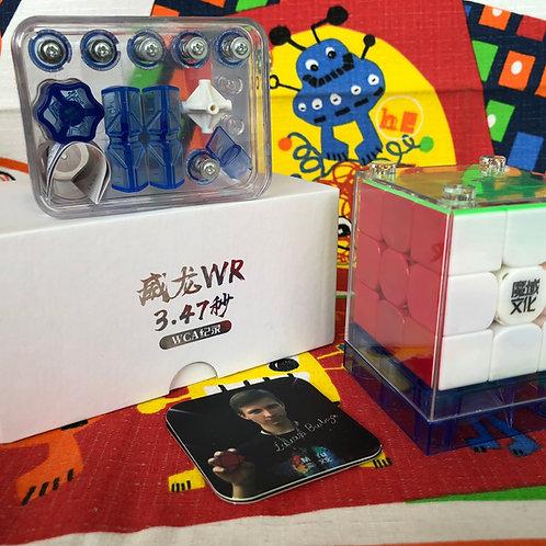 3x3 Moyu WeiLong WR stickerless colored