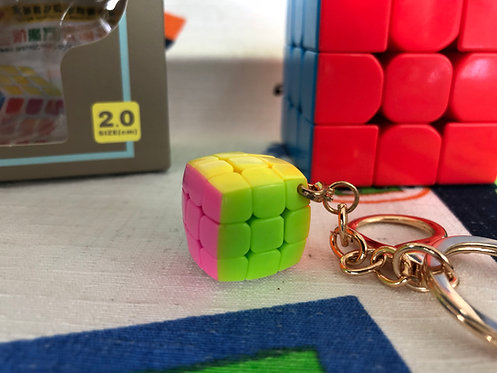 YJ 3x3 Mini Llavero 2cm stickerless candy colors