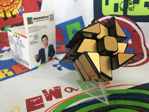 Moyu MoFangJiaoShi Wind Fire Mirror S 3x3 base negra dorado