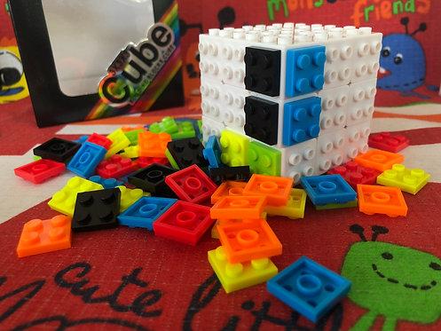 3x3x3 Building blocks base blanca