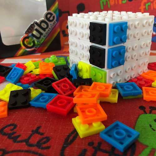 3x3x3 Building blocks base blanca