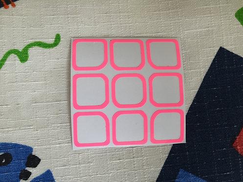 Cara 3x3 outline vinil rosa