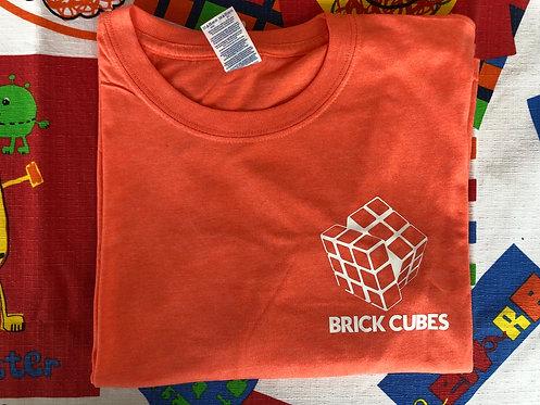 Playera Brick Cubes naranja
