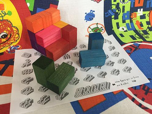 Cubo soma grande de madera colores