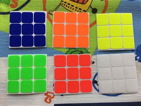 Stickers 3x3 vinil colores fosforescentes