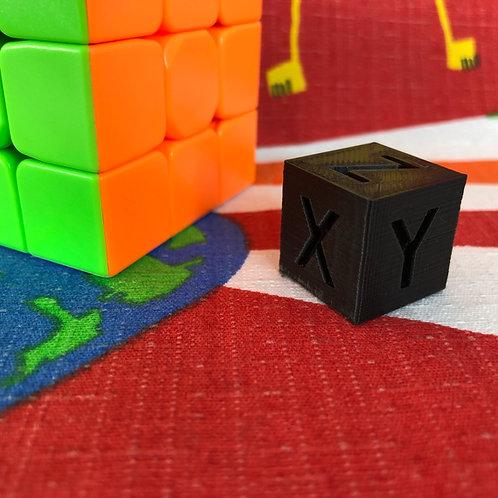 Cubo XYZ negro 2cm