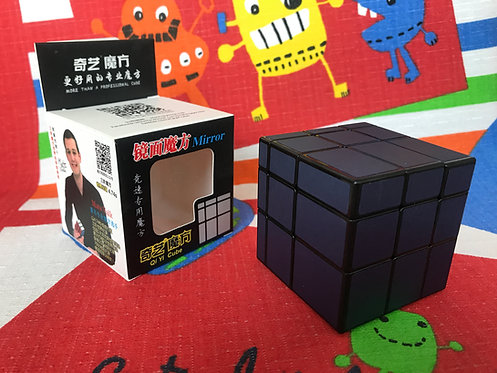 QiYi Mirror 3x3 base negra stickers azul