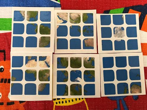 Stickers 3x3 vinil mapa mundi