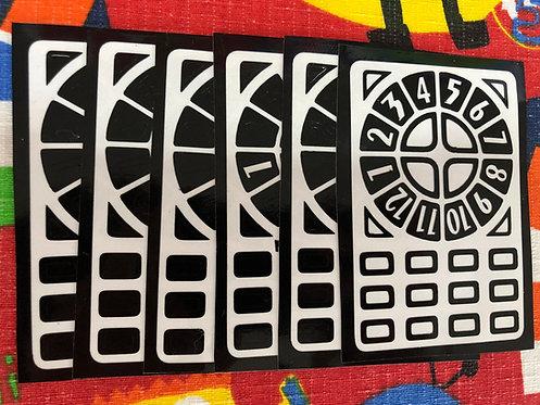 Stickers Time machine vinil negro