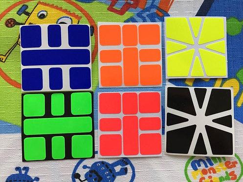 Stickers Square 1 vinil colores fosforescentes