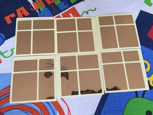 Stickers mirror 2x2 vinil dorado