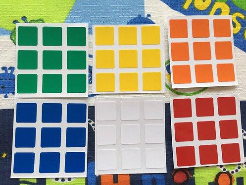 Stickers 3x3 Dayan vinil colores estándar
