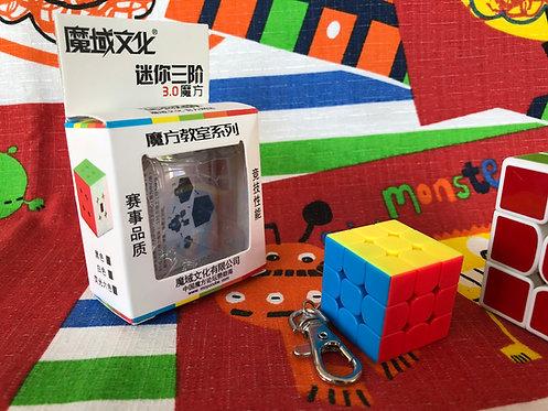 3x3 Mini Llavero 30mm Moyu MoFangJiaoShi stickerless light colors