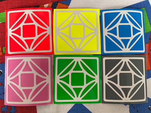 Stickers Dreidel Simplificado half bright