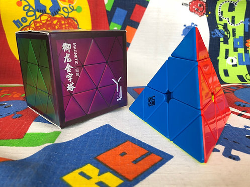 YJ Yulong Pyraminx magnética stickerless colored