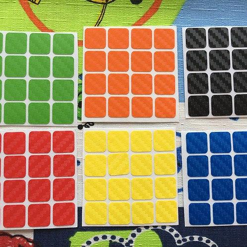 Stickers 4x4 fibra de carbono colores clásicos