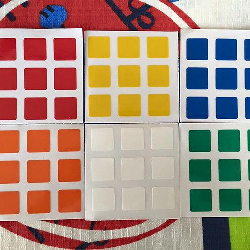 Stickers 3x3 Gans 3 vinil colores estándar