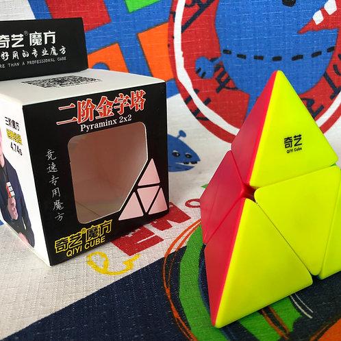 QiYi Pyraminx 2x2 stickerless colored