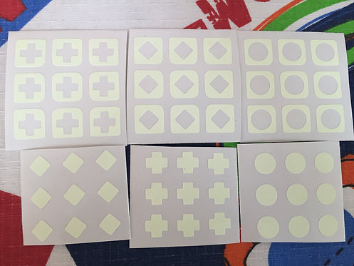 Stickers 3x3 vinil fluorescente