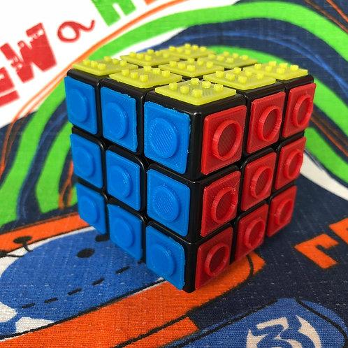 3x3 Rubik con tiles colores impresas en 3D para armar a ciegas base negra